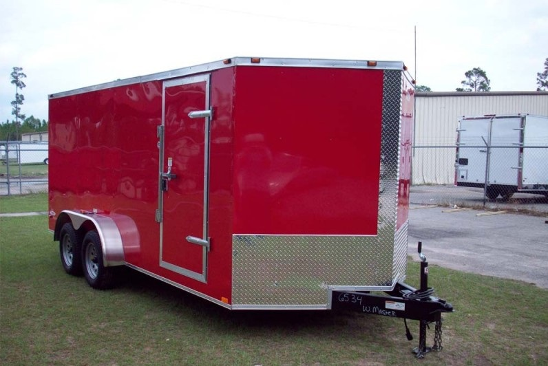 Freedom 14 Red Cargo Trailer
