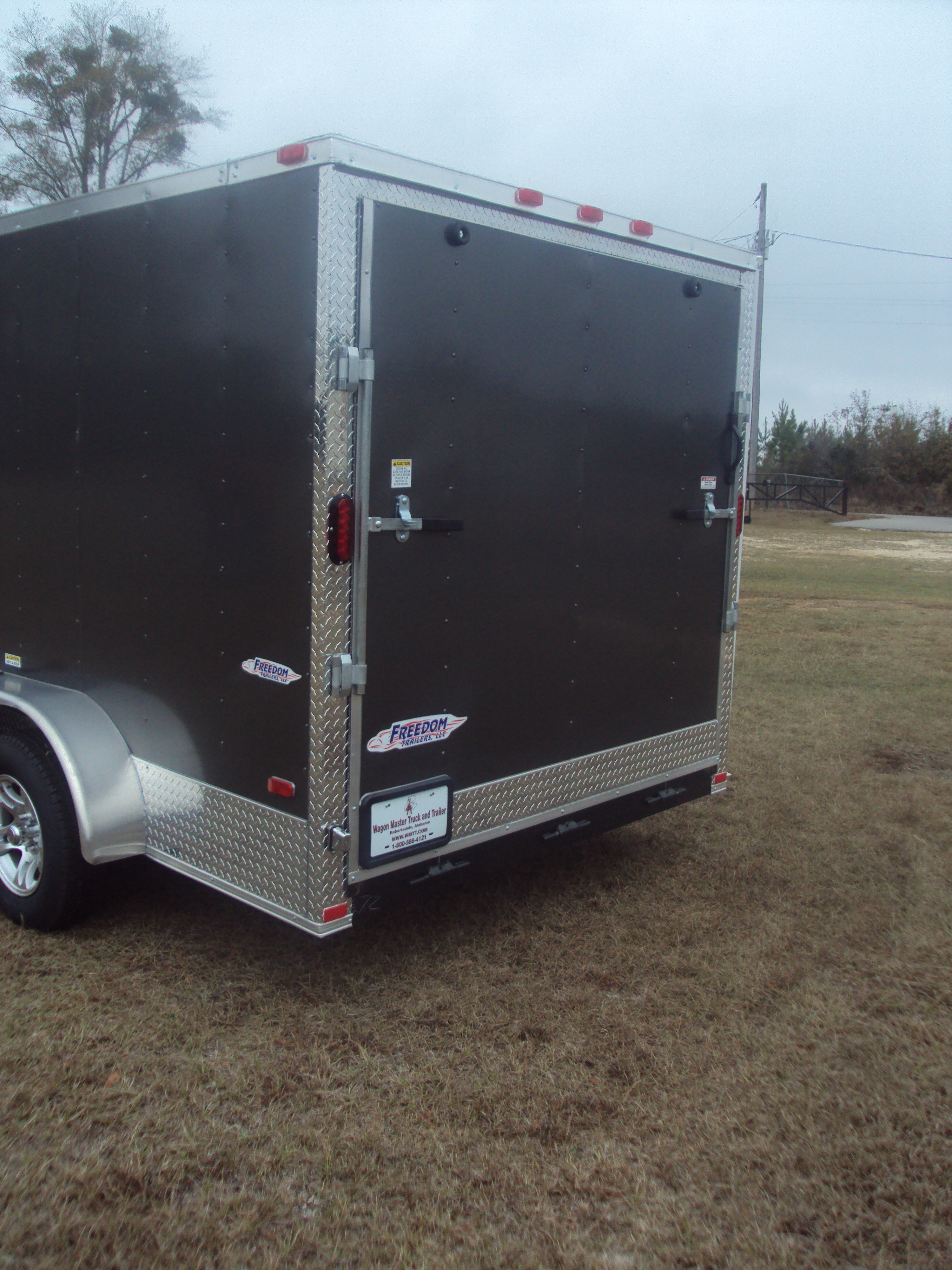 Freedom 7 X 14 Charcoal Gray Motorcycle Cargo Trailer