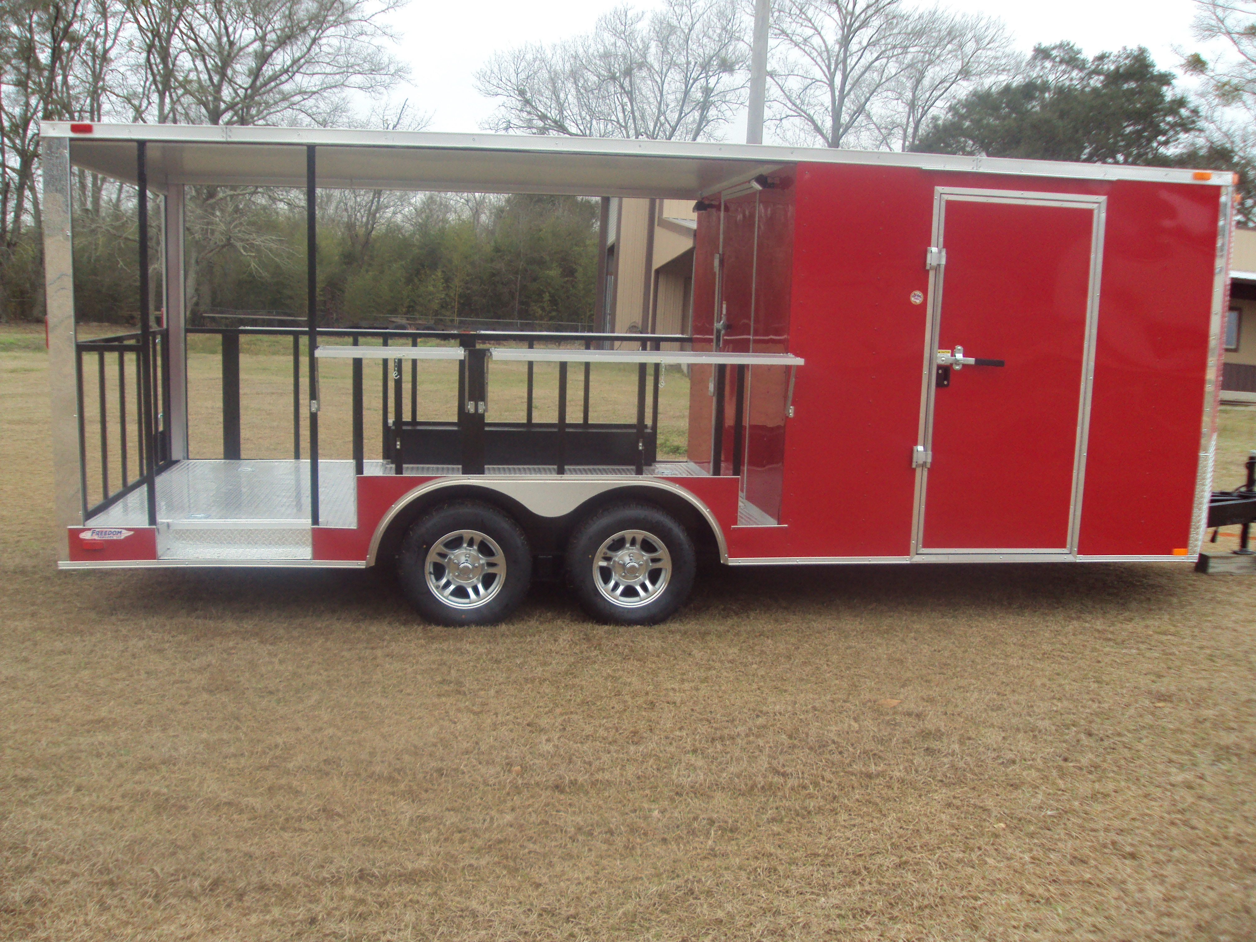 Freedom 20 Concession Trailer 12 Open Rear Porch